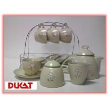 Zestaw do kawy 15 części ceramika